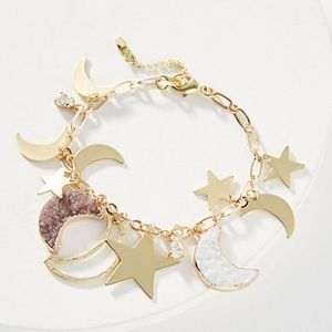 Anthropologie Night Sky Charm Bracelet